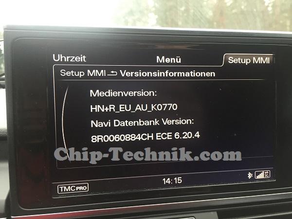 A7 4G MMI 3G und 3GP Navigation Karten-Update - 2015 8R0060884CH